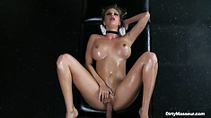 He goes massaging her pussy from outside and from the inside