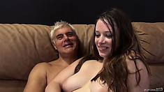Natalie Moore shows just how much she enjoys a rough banging