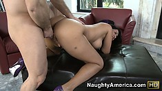 Busty and bootylicious Isis Love enjoys getting banged from behind