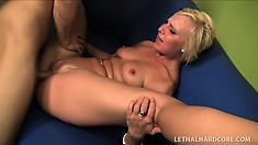 Cute slender blonde with tiny tits Payton loves to suck cock and to get fucked hard