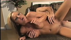 Busty blonde trades head and gets nailed, then gets it in her tight butt