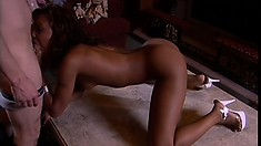 Perky titted black girl Marie Luv gets nasty in a hardcore scene