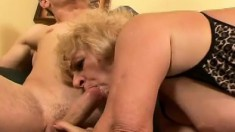 Wild mature hooker gets her tight ass fucked by two young buddies