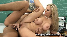 Julia Ann lets cocktail sausage get chased up alley by hungry hound