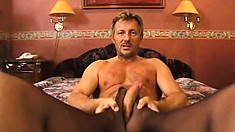 Seductive European blonde in black lingerie gets fucked hard in the ass